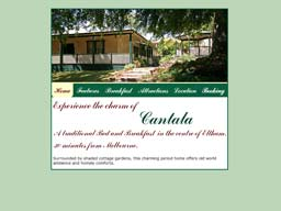 Cantala Bed and Breakfast Web page
