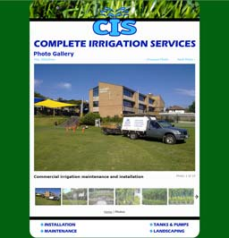 Complete Irrigation Services Web Page